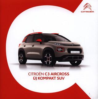 Citroen C3 Aircross, Új Kompakt SUV;  2017_1, car brochure