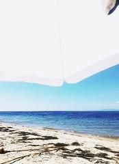 ⛱️ (__jo_) Tags: greece summer hellas beachlife beach seaside sea sealife water hot sun umbrella blue sky