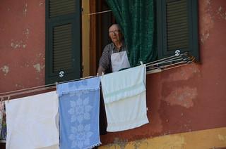 Man in Window - Vernazza, Cinqueterre