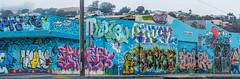 bikini bottom ghetto (pbo31) Tags: bayarea california nikon d810 color july summer 2018 boury pbo31 sanfrancisco city urban blue silverterrace mural art spongebob cartoon ocean ghetto panoramic large stitched panorama