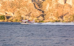Refilling with water (In Explore) (brianmurphy1950 ....Thanks For Your Visit) Tags: handheld panning refilling aircraft plane southokanagan waterbomber wildfire brianmurphy 18300mm nikond7100