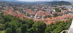 Panorama over Ljubljana (Richard & Jo) Tags: rnj2018franceitaly slovenia ljubljana panorama oldtown ljubljanacastle
