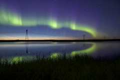 June 18 aurora Canon 7D (John Andersen (JPAndersen images)) Tags: alberta aurora calgary cityskyline crossfield noctilucentclouds sunset