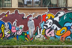 The streets of Tirana (Leaning Ladder) Tags: tirana albania graffiti streetart mural colors leaningladder