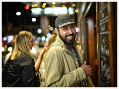 """""""Count your age by friends, not years. Count your life by smiles, not tears."""" ― John Lennon (gro57074@bigpond.net.au) Tags: streetphotography kingstreet sydney friends happiness smile 50mmf14 artseries sigma d850 nikon street newtown"""