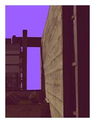 C O N C R E T E (H E G I N G E R) Tags: concrete art architecture archilovers archistudent colour contrast church le colours corbusier building violet grey la tourette france lyon mood experiment