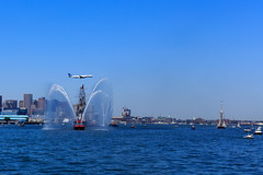 Boston, 4th July 2018 (chris_brearley) Tags: 4july boats boston bostonharbor celebration constitution independenceday jetblue july4 loganairport plane sailing travel travelphotography ussconstitution