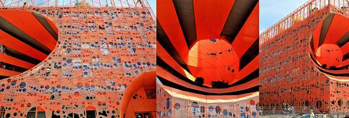 Immeuble Le Cube Orange – Jakob & Mac Farlane, quai Rambaud, presqu'île Confluence, Lyon, Auvergne-Rhône-Alpes, France,