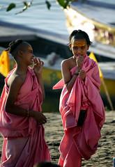 "Young Novice Hindu Monks Laughing (El-Branden Brazil) Tags: varanasi india indian ganges ganga ceremony hindu hinduism asian asia sacred holy mystical ""south asia"" sadhu"
