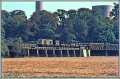 Scorched earth (david.hayes77) Tags: class20 20177 1976 type1 englishelectric freight cargo trentlock derbyshire rivertrent agfact18 longeaton sawley heatwave drought redhill scorchedearth 0000