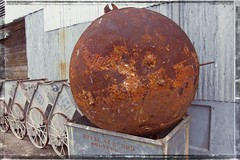 SPUTNIK---THE FINAL RESTING PLACE (akahawkeyefan) Tags: buoy monterey davemeyer wharf carts shed