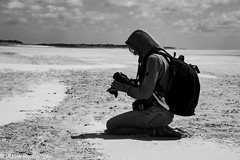 Concentration (vmonk65) Tags: nikon nikond810 stpeterording beach sky sand photographer photographeratwork bw blackwhite blackandwhite people peopleatwork himmel meer person ocean