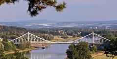 Blaues Wunder (rengawfalo) Tags: dresden sachsen saxony germany deutschland brücke bridge blaueswunder bluewonder loschwitz blasewitz loschwitzerbrücke panorama elbe fluss flus river