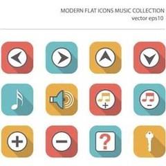 free vector Modern Flat Icons Music Collection (cgvector) Tags: acoustic audio black classic clef collection digital disc disk dj drum drumsticks earbuds equalizer equipment filled flat gray guitar headphone icon icons illustration instruments isolated keyboards loudspeaker microphone mixer modern music musicicons musica musical musicalnote note party piano pictogram play player record set setting shape sign simple singing solid sound speaker studio symbol treble trebleclef vector volume