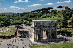 Arch of Constantine as seen from the third ring of the Colosseum. (twistedtigger) Tags: rome archofconstantine vacation tourist x100f