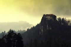 0790 High Castle (Hrvoje Simich - gaZZda) Tags: outdoors landscape mountain sky mist fog clouds forest building castle bled slovenia europe nikon nikond750 nikkor283003556 gazzda hrvojesimich