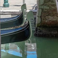Gondola race? (Trev Green) Tags: venice gondola italy boat nikon canal