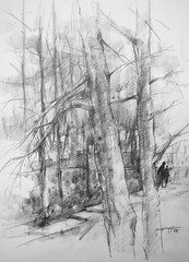 P1018388 (Gasheh) Tags: art painting drawing sketch nature tree trees people pencil gasheh 2018