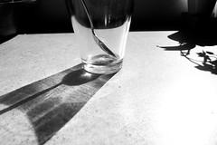 half empty (Eli Modje) Tags: blackandwhite bw noir black lines detail minimal minimalism mystery light shadow transparent shade spoon glass stilllife halfempty