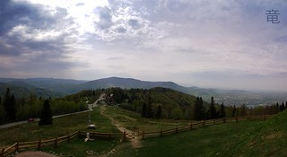 Beskid mountains panorama