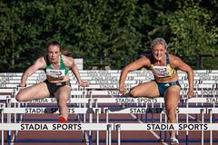 Level pegging (squirrel.boyd) Tags: photography athletics trackfield hurdles 100mhurdles
