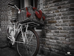 A bike and some little hearts (Crina Varlan) Tags: sigma canon landscape buildings bike hearts red old vintage
