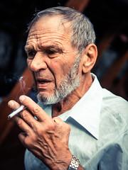 Old smoker (Blackcatstudio) Tags: street old man looking gx80 lumix 30 sigma panasonic portrait 14 streetphotographers streetphotography kiev smokes cigarette gx80world mft streetshot portraitshoot microfournerds