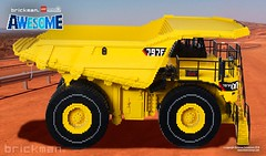 LEGO® brick Caterpillar 797 Truck side (TheBrickMan) Tags: lego awesome brickman caterpillar biglegotruck truck mining