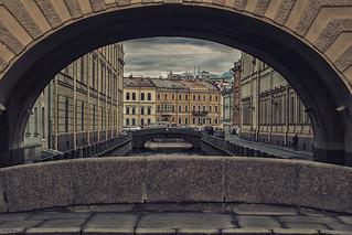 View of the 1st Winter Bridge from the Hermitage Bridge