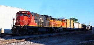 CN 2122, BNSF 5525, Chapman, Neenah, 7 Jul 18