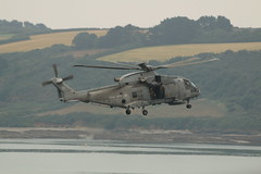 Royal Navy Merlin (charliejb) Tags: falmouth cornwall 2018 sea water royalnavy fleetairarm merlin merlinhelicopter helicopter chopper rotorblades tailblades fly flight culdrose rnasculdrose