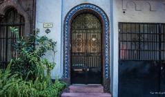 2018 - Mexico City - Doors/Windows - 2 of 13 (Ted's photos - Returns 23 Jun) Tags: 2018 cdmx cityofmexico cropped mexicocity nikon nikond750 nikonfx tedmcgrath tedsphotos tedsphotosmexico vignetting doorway door arches arch artdeco plants entry entrance