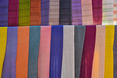 Colorful textile for sale at street market (phuong.sg@gmail.com) Tags: asia asian assortment bangkok bazaar bright business cashmere cloth clothing colorful colors concept consumerism couture design different drapery fabric fashion goods hanging industry manufacture many market multicolored myanmar nobody palette range raw retail row sale samples scarves sell shawl shop store street style textile thailand trade vibrant