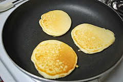 Trio Of Pancakes. (dccradio) Tags: lumberton nc northcarolina robesoncounty indoor indoors inside pancakes pancake cook cookingfry frying fryingpan pan food eat breakfast breakfastfood kitchen nikon d40 dslr