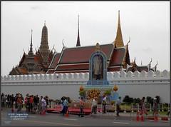 Bangkok Grand Palace Wall 20180128_114504 DSCN1965 (CanadaGood) Tags: asia seasia asean thailand thai ราชอาณาจักรไทย bangkok krungthep palace temple wall building architecture canadagood 2018 thisdecade color colour