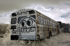 DSC_1030 (MFer Photography) Tags: school bus graveyard graffiti art georgia junyyard decay abandoned infrared ir