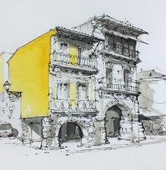 Colorful Porto! (alexhillkurtzart) Tags: usksymposium watercolor urbansketch usk porto