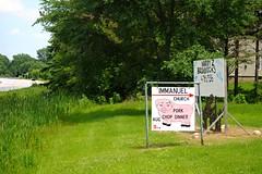 Immanuel Lutheran Church Pork Chop Dinner - Hubbleton, Wisconsin (Cragin Spring) Tags: wisconsin wi midwest rural unitedstates usa unitedstatesofamerica immanuellutheranchurch sign pig porkchopdinner pork hubbleton hubbletonwi hubbletonwisconsin