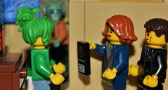 Lego, Questioned by Mulder & Scully (Finlay Yusef-Cook) Tags: legography lego xfiles mulder scully alien fbi