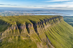 """Benbulben Mountain"" - Ireland's Prehistoric Seabed (Gareth Wray - 10 Million Views, Thank You) Tags: dji mt mount mountain errigal dunlewey foot phantom four 4 pro p4p drone aerial quadcopter landscape seascape monument landmark famous tourist attraction tourism tourists historic history visit donegal ireland irish scenic gareth sligo mullaghmore benbulben benbulbin ben bulben table top yates country plateau wray photography sun atlantic day vacation ridge hill mountainside 2018 streedagh beach ancient prehistoric shell seabed limestone fossil"