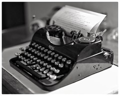 'There are infinite shades of grey. Writing often appears so black and white.' - Rebecca Solnit (gro57074@bigpond.net.au) Tags: royal 50mmf14 artseries sigma d850 nikon antiquetypewriter antique oldtypewriter monochrome bw blackwhite