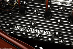 Offenhauser (Thad Zajdowicz) Tags: zajdowicz pasadena california usa travel canon eos 5d3 5dmarkiii dslr digital availablelight lightroom outside outdoors chalkfestival carshow ef24105mmf4lisusm street urban city engine motor car automobile vehicle classic vintage customized offenhauser power text word letters writing red colour color steel metal bolts wires engineblock detail lines repeating repetition shapes