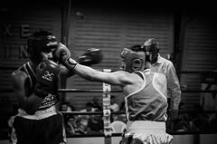 34707 - Hook (Diego Rosato) Tags: boxe pugilato boxelatina boxing ring match incontro nikon d700 2470mm tamron bianconero blackwhite hook gancio pugno punch