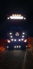 Photo of Just a Phone pic, But gives an idea of how my Truck looks at night now ave wired the LEDs up ...
