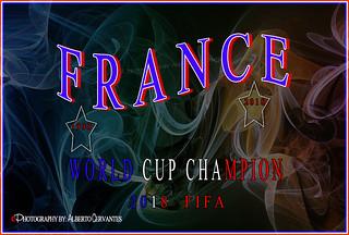 FRANCE WORLD CUP CHAMPION 2018 FIFA. NEW YORK CITY.