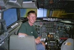 Yours Truly in a 707 Cockpit (beltz6) Tags: pima pimaairandspacemuseum boeing cockpit
