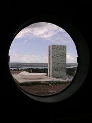Brazilian Parliament, Brasilia (Stephen.Bingham) Tags: brasil brasilia oscar niemeyer brazilian parliament congresso national ccbysa creativecommons attributionsharealike tower
