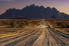 The Road @ Spitzkoppe, Namibia (Avisekh) Tags: toyota fortuner wwwavisekhphotographycom 4x4 spitzkoppe namibia d3716 gravil drive dust nikon 70200f4 tripod lee rrs heliopan polarizer gnd