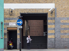 One Way (Magic Pea) Tags: streetphotography street streetphoto candid unposed photo photography magicpea london farringdon clerkenwell man smoking suit