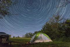 StarStaX_DSC_2550-DSC_2849_lighten (itspoots) Tags: stars star startrail park camping tent night summer whiterock iowa highlightiowa